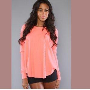 Free People neon pink top